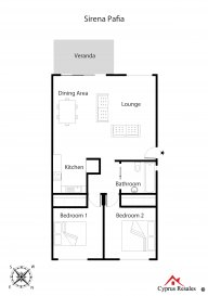 Fashionable Sirena Pafia 2 Bedroom Apartment