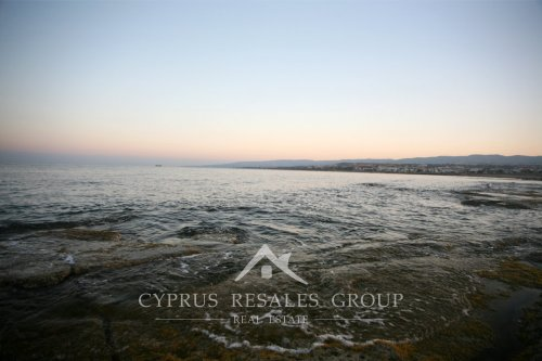 Dawn over Paphos coastline, Cyprus