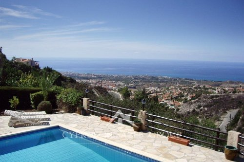 Unforgettable coastal views from a luxury villa on the hills of Leptos Kamares Village in Tala - the best resale property in Cyprus