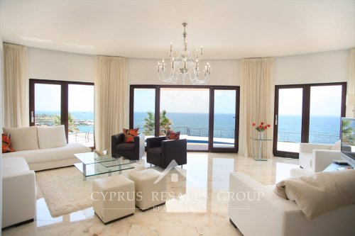 Sea Caves Villa Perfection, Cyprus - lounge with stunning sea views