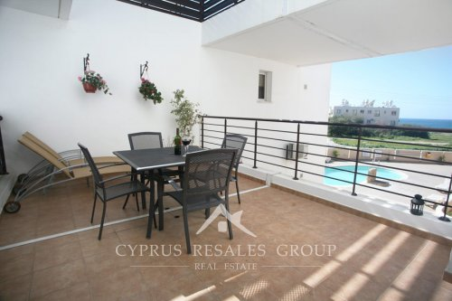 Coastal property in Cyprus - Generous terrace with sea views in Sirena Lighthouse next to Faros beach in Kato Paphos, Cyprus