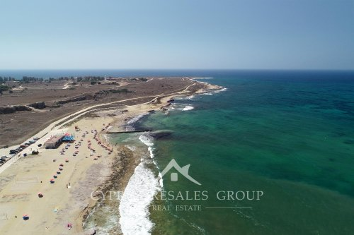 Lighthouse beach promenade in Kato Paphos, Cyprus