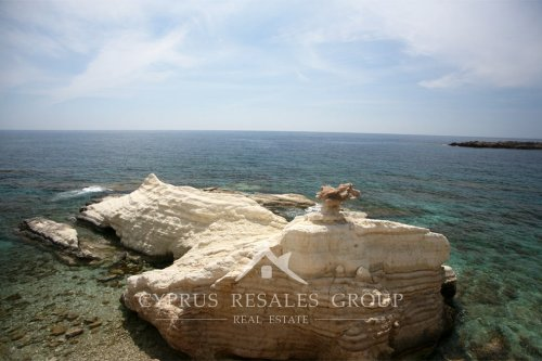 Modern art by the wind, Sea Caves rocks, Cyprus