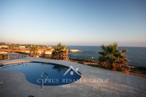 Front line villa view in Sea Caves, Paphos, Cyprus
